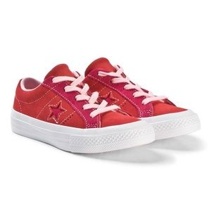 NWOT Converse Red Pink One Star OX Junior Trainers